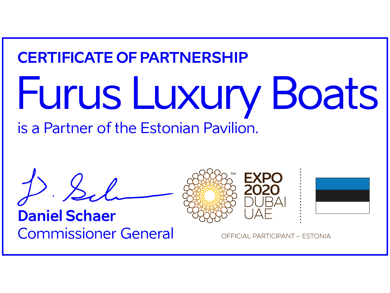 Furus Luxury Boat Expo certification