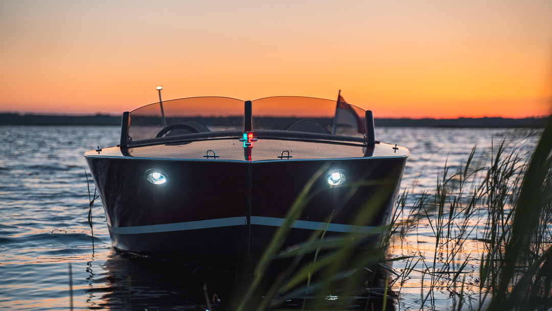 Furus luxury boat at night